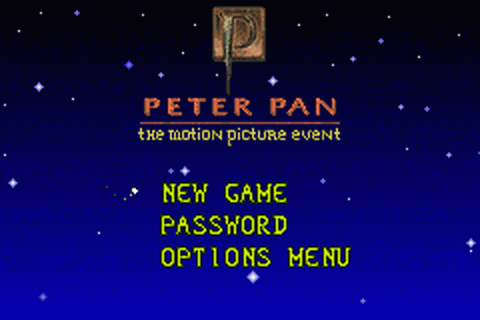Peter Pan - The Motion Picture Event title screenshot