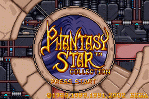 Phantasy Star Collection title screenshot
