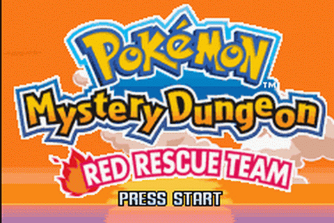 Pokemon Mystery Dungeon - Red Rescue Team title screenshot
