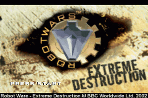 Robot Wars - Extreme Destruction title screenshot
