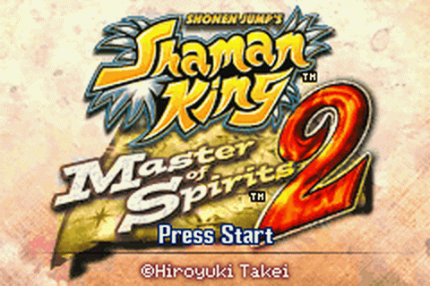 Shaman King - Master of Spirits 2 title screenshot