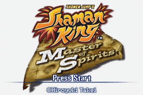 Shaman King - Master of Spirits title screenshot