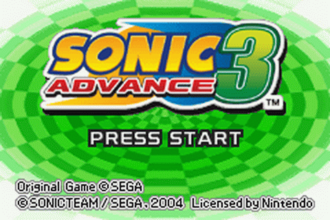 Sonic Advance 3 title screenshot
