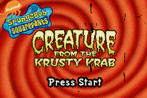 SpongeBob SquarePants - Creature from the Krusty Krab title screenshot