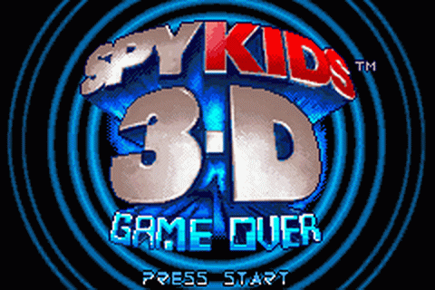 Spy Kids 3-D - Game Over title screenshot