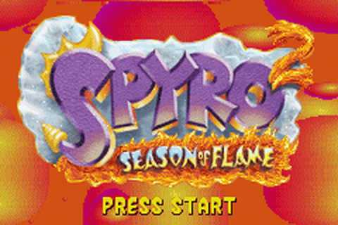 Spyro 2 - Season of Flame title screenshot