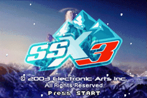 SSX 3 title screenshot