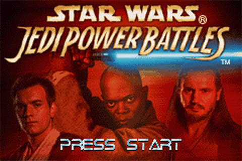 Star Wars - Jedi Power Battles title screenshot