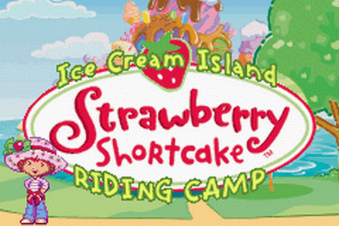 Strawberry Shortcake - Ice Cream Island - Riding Camp title screenshot