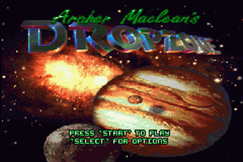 Super Dropzone - Intergalactic Rescue Mission title screenshot