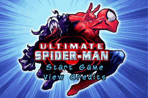 Ultimate Spider-Man title screenshot