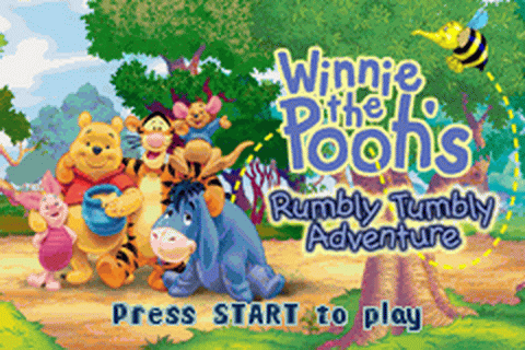 Winnie the Pooh's Rumbly Tumbly Adventure title screenshot