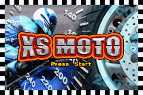 XS Moto title screenshot