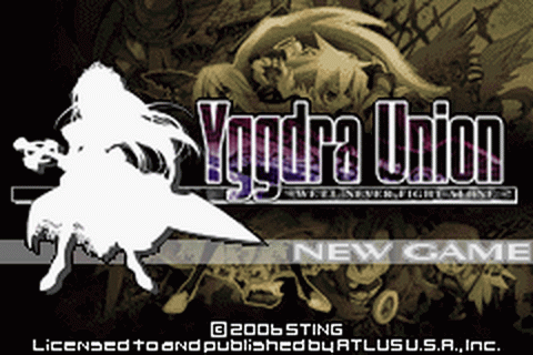 Yggdra Union - We'll Never Fight Alone title screenshot