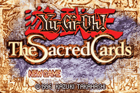 Yu-Gi-Oh! - The Sacred Cards title screenshot