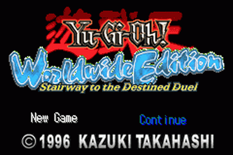 Yu-Gi-Oh! - Worldwide Edition - Stairway to the Destined Duel title screenshot