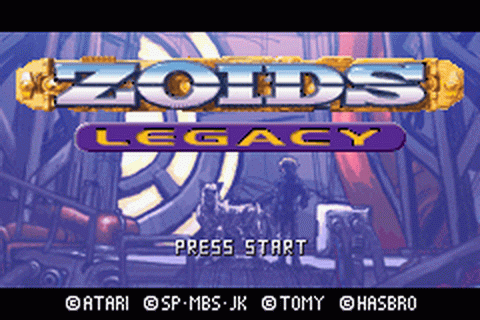 Zoids Legacy title screenshot