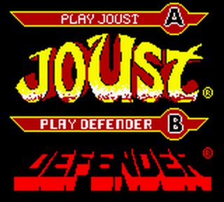 Arcade Hits - Joust & Defender title screenshot