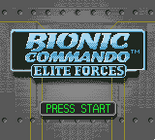 Bionic Commando - Elite Forces title screenshot