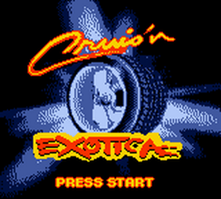 Cruis'n Exotica title screenshot