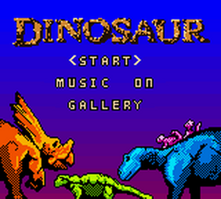 Dinosaur title screenshot