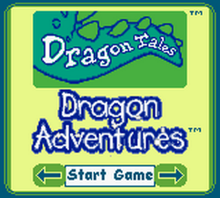 Dragon Tales - Dragon Adventures title screenshot