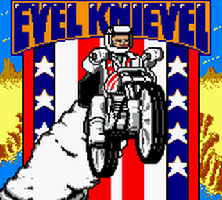 Evel Knievel title screenshot