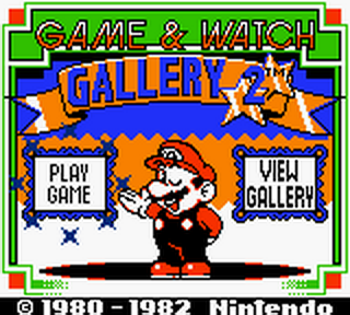 Game & Watch Gallery 2 title screenshot