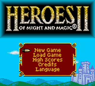 Heroes of Might and Magic II title screenshot