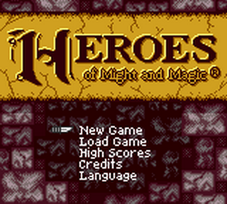 Heroes of Might and Magic title screenshot