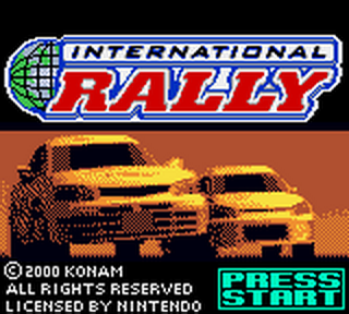 International Rally title screenshot