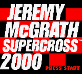 Jeremy McGrath Supercross 2000 title screenshot