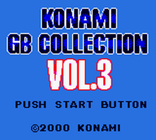 Konami GB Collection Vol.3 title screenshot