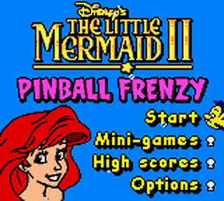 Little Mermaid II, The - Pinball Frenzy title screenshot
