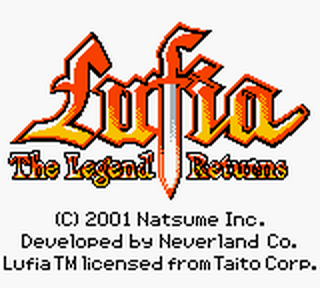 Lufia - The Legend Returns title screenshot