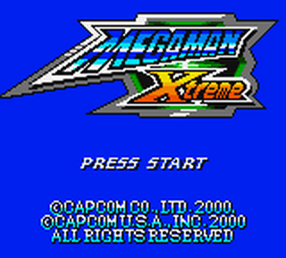 Mega Man Xtreme title screenshot