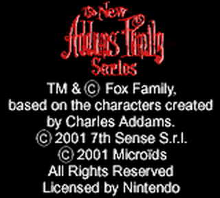 New Addams Family Series, The title screenshot