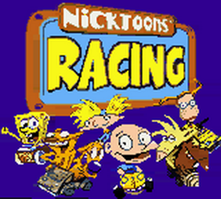 Nicktoons Racing title screenshot