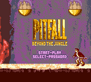 Pitfall - Beyond the Jungle title screenshot