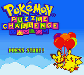 Pokemon Puzzle Challenge title screenshot