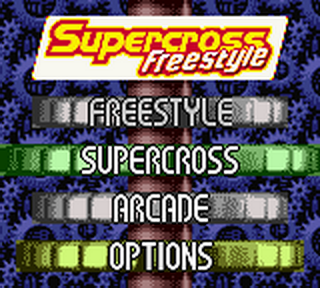 Supercross Freestyle title screenshot