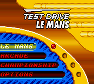 Test Drive Le Mans title screenshot