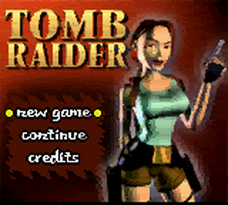 Tomb Raider title screenshot