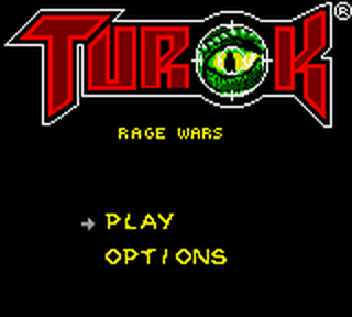 Turok - Rage Wars title screenshot