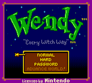 Wendy - Every Witch Way title screenshot