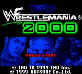 WWF WrestleMania 2000 title screenshot