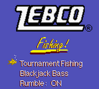 Zebco Fishing! title screenshot