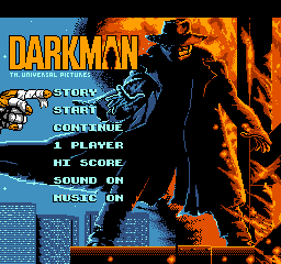 Darkman title screenshot