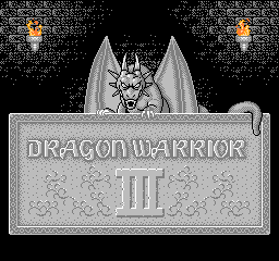 Dragon Warrior III title screenshot