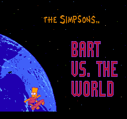Simpsons, The - Bart vs. the World title screenshot